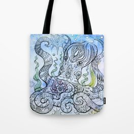 Starry Octopus Tote Bag