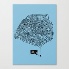Spidermaps #1 Dark Canvas Print