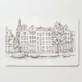 View of Amsterdam canal Cutting Board