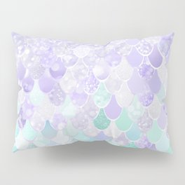 Mermaid Iridescent Purple and Teal Pattern Pillow Sham