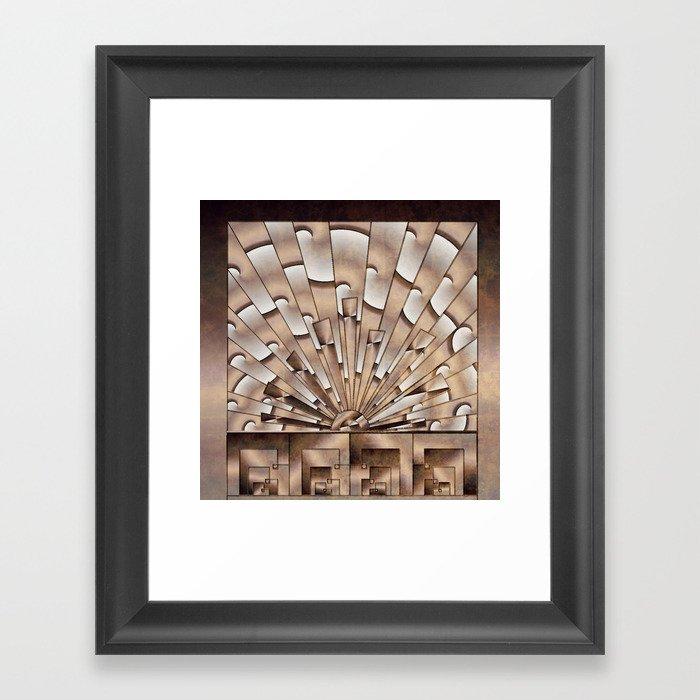 Art Deco Weathered Copper I Framed Art Print