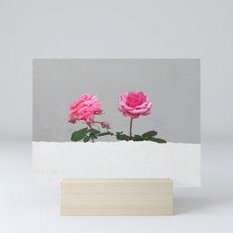Happy Pink Roses Mini Art Print