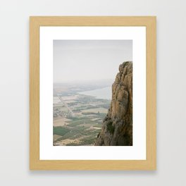 Mt. Arbel and the Sea of Galilee - Holy Land Fine Art Film Photography Framed Art Print