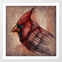 cardinal Art Prints featuring Cardinal by Werk of Art