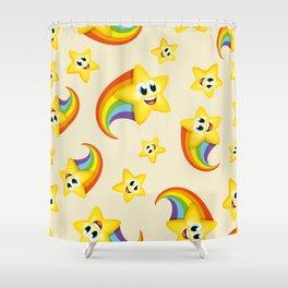Colorful pattern cute cartoon rainbow star Shower Curtain