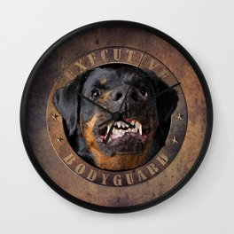 Executive bodyguard Angry rottweiler iPhone 4 5 6 7 8 x, pillow case, mugs and tshirt Wall Clock