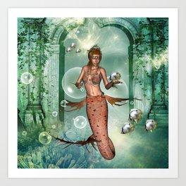 Wonderful mermaid Art Print