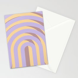 Lavender `Rainbow Arches Stationery Cards