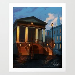 Charleston City Market Art Print