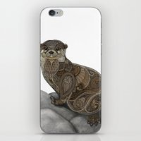 otter iPhone & iPod Skins featuring Otter by ZHField