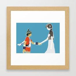 Ico and Yorda Framed Art Print
