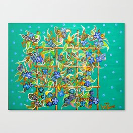 """Bamboo Blues"" by ICA PAVON Canvas Print"