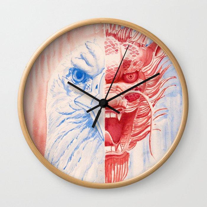 Chinese American Wall Clock
