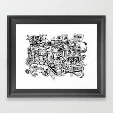 Sketchbook Composite - 1 Framed Art Print