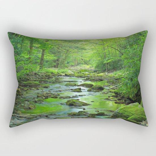 Rocky Forest Creek Rectangular Pillow