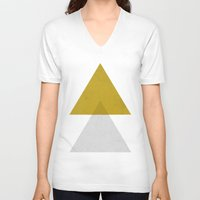 triangles V-neck T-shirts featuring Triangles by Nan Lawson