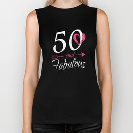 50th-Birthday-Gift---50-And-Fabulous Biker Tank