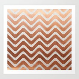 Copper and Paper Art Print