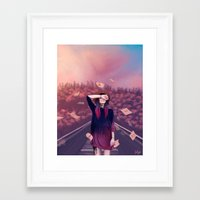 letter Framed Art Prints featuring letter by Juli Gm