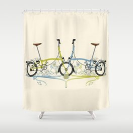 Brompton Bicycle cycling Shower Curtain