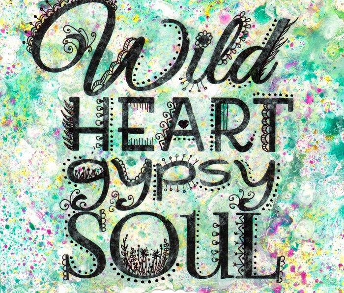 Wild Heart, Gypsy Soul Metal Travel Mug