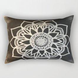 Black Fade Mandala Rectangular Pillow