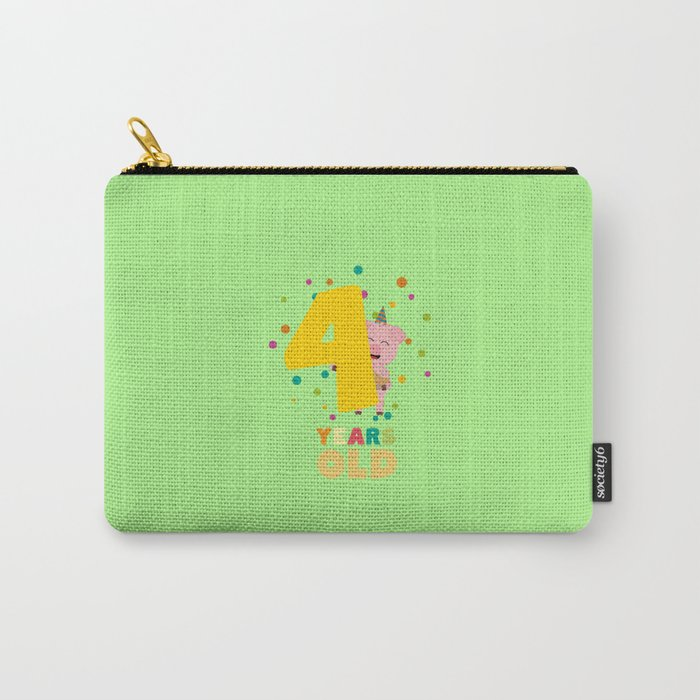 Four Years old fourth Birthday Party Dpkhc Carry-All Pouch