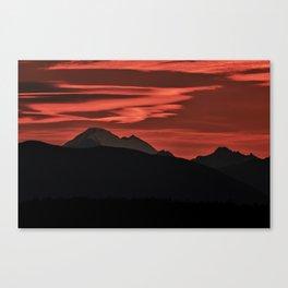 Mt Baker Sunrise Canvas Print