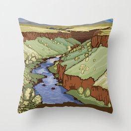 Vintage Poster - Rio Grande del Norte National Monument, New Mexico (2015) Throw Pillow