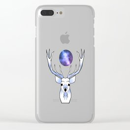 Galaxy Deer Clear iPhone Case