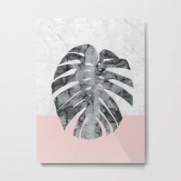 Watercolor tropical leaf VII Metal Print