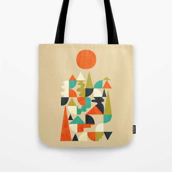 Mountains Hills and Rivers Tote Bag