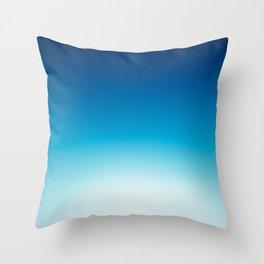 Ombre Blue Throw Pillow