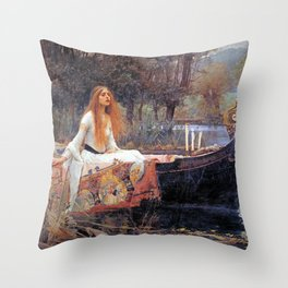 THE LADY OF SHALLOT - WATERHOUSE Throw Pillow