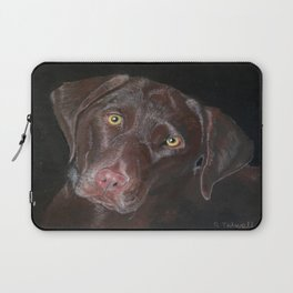Inquisitive Chocolate Labrador Laptop Sleeve
