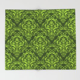 Halloween damask colors #3 Throw Blanket