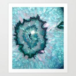Teal Agate Art Print