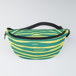 Zebra Pelt in green and yellow Fanny Pack