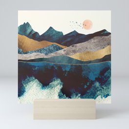 Blue Mountain Reflection Mini Art Print