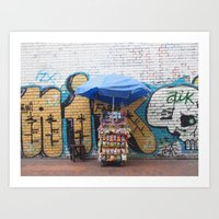 colombia Art Prints featuring Colombia, #2 by ohrutown
