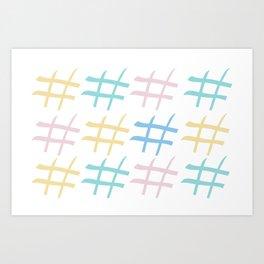 Hashtag pastel palette Art Print