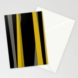 yellow gray and black Stationery Cards