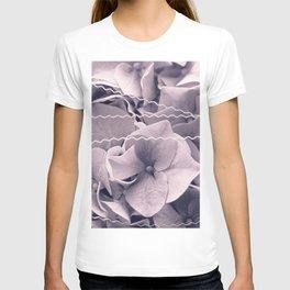 A Sea of Light Purple Lilac Hydrangea Blossoms #2 #floral #art #society6 T-shirt