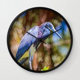 Tricolor Heron  Wall Clock