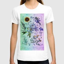 Botanical Study #2, Vintage Botanical Illustration Collage Art T-shirt