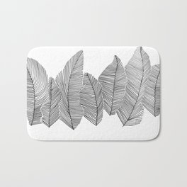 drawn feathers Bath Mat