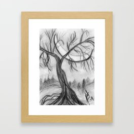 Willow in the Valley Framed Art Print