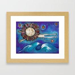 Dreaming lion Framed Art Print