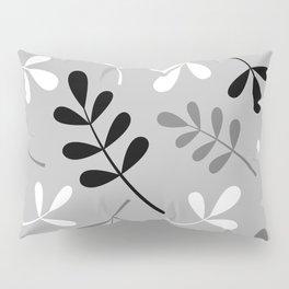 Assorted Leaf Silhouettes Monochrome Pillow Sham