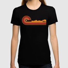 Retro Style Juneau Alaska Skyline T-shirt
